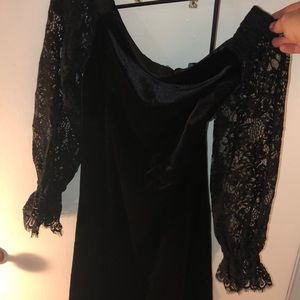 Black shoulder dress (White House Black Market)